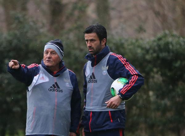 Ассистенты главного тренера Итало Гальбьятти (слева) и Кристиан Пануччи