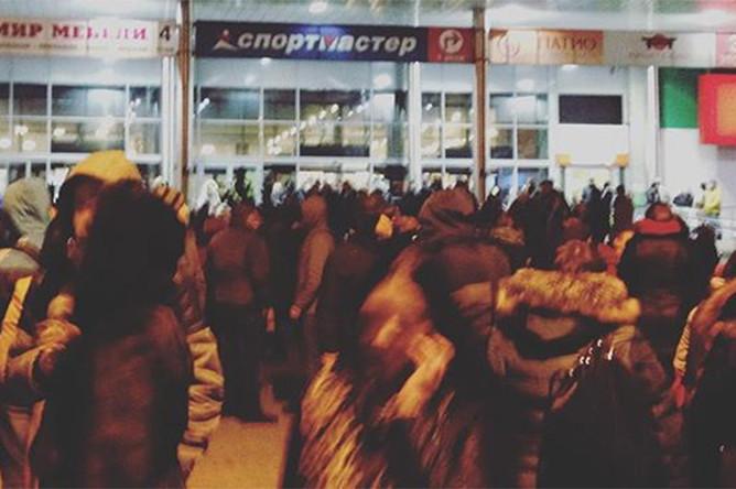 Эвакуация в одном из магазинов Москвы