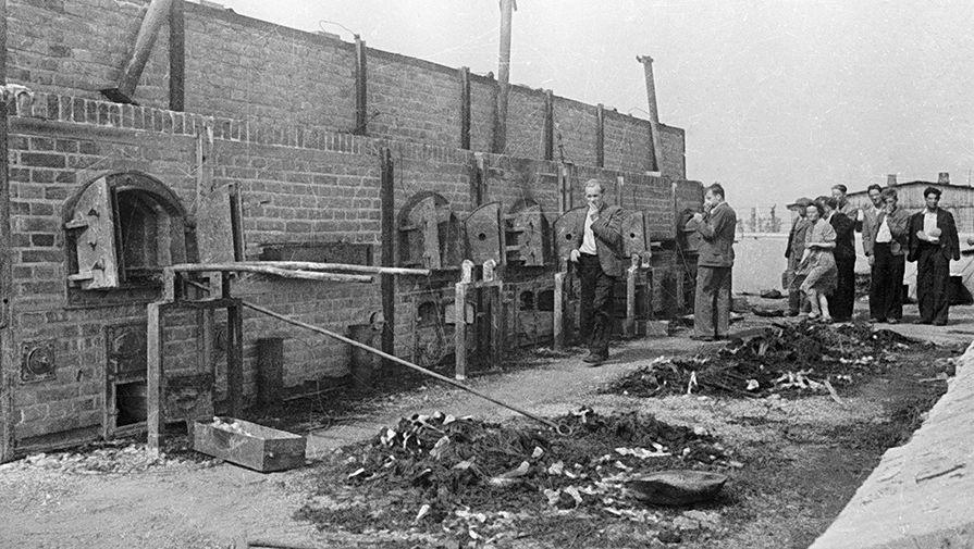 Печи, где сжигали узников концентрационного лагеря Майданек. В лагере было умерщвлено около 80 000...