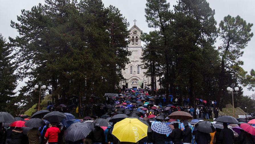 В Черногории начались массовые протесты против закона о вероисповедании