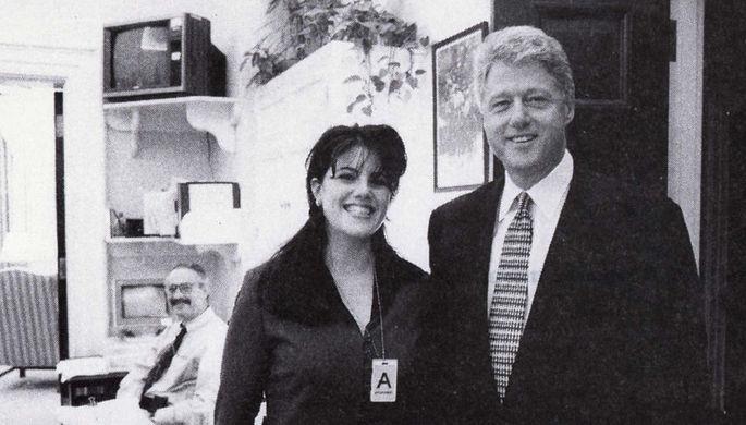 Президент США Билл Клинтон и Моника Левински, 1995 год
