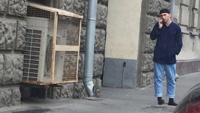 Подозреваемый в нападении на полицейского в центре Москвы, 27 июля 2018 года