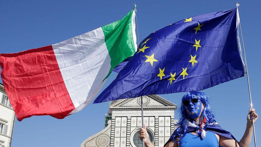 В парламенте Италии демонстративно избавились от флага Евросоюза