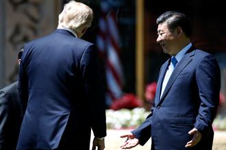 Дональд Трамп и Си Цзиньпин, 7 апреля 2017 года