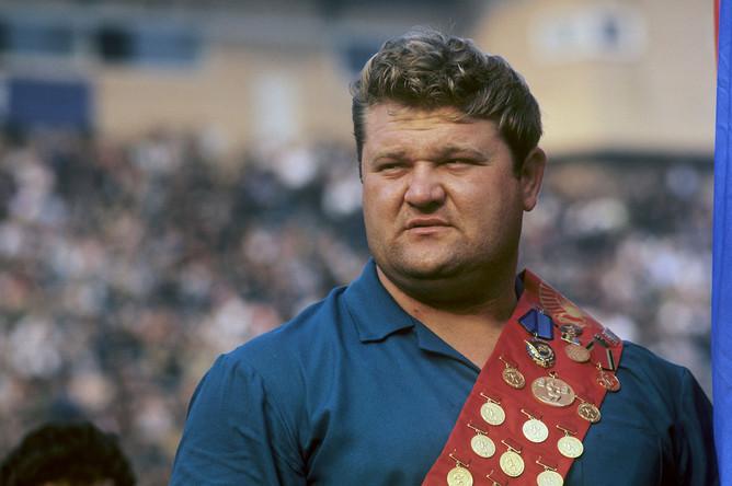 Олимпийский чемпион по тяжелой атлетике Леонид Жаботинский, 1967 г.