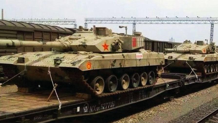 Китайская военная корпорация NORINCO модернизировала танк Type-96 для участия в соревнованиях — в Россию привезли не менее пяти новых модернизированных танков Т-96B