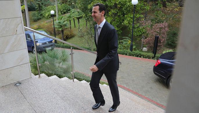 Президент Сирии Башар Асад во время встречи с президентом России Владимиром Путиным в Сочи, 20...