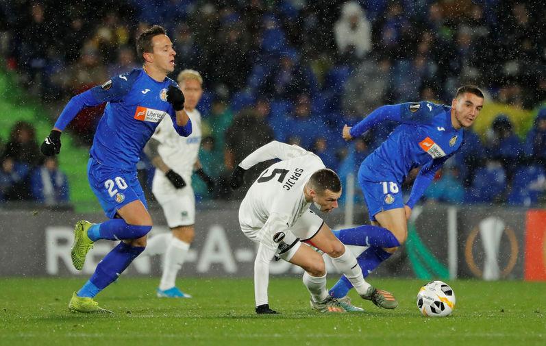 Во время матча группового этапа Лиги Европы между ФК «Хетафе» и ФК «Краснодар», 12 декабря 2019 года