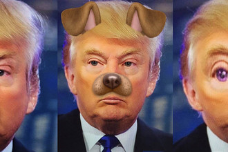 Трамп примерил маски