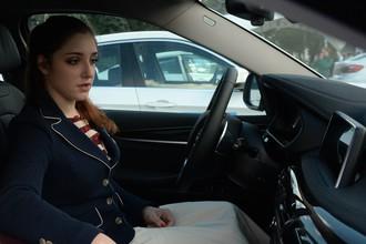 Алия Мустафина недолго просидела за рулем престижного авто