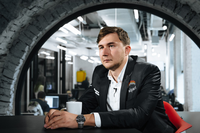 Гроссмейстер Сергей Карякин в редакции «Газеты.Ru»