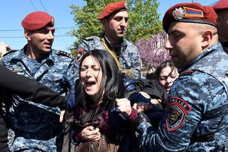 Ситуация в центре Еревана, 16 апреля 2018 года