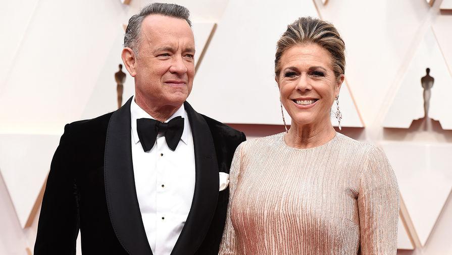 Голливудский актер Том Хэнкс и его супруга Рита Уилсон