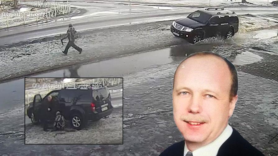 Владимир Бельский и момент наезда на ребенка в Приозерске, коллаж