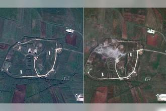 Спутниковый снимок последствий ракетного удара США по Сирии