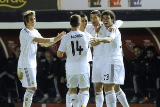 «Реал» празднует очередной гол Роналду