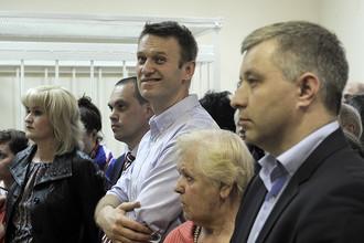 Оппозиционер Алексей Навальный в Бабушкинском мировом суде