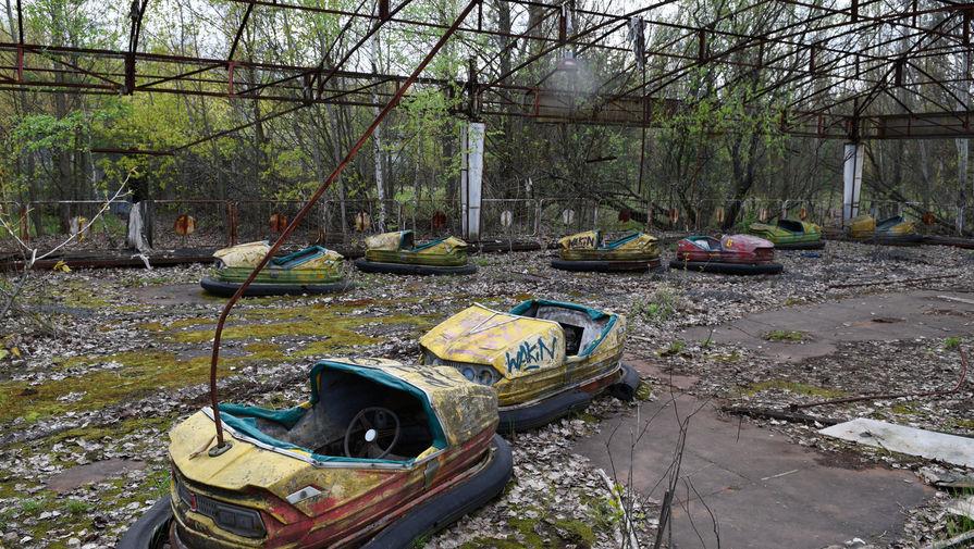 Заброшенный парк аттракционов на территории зоны отчуждения ЧАЭС, 2016 год