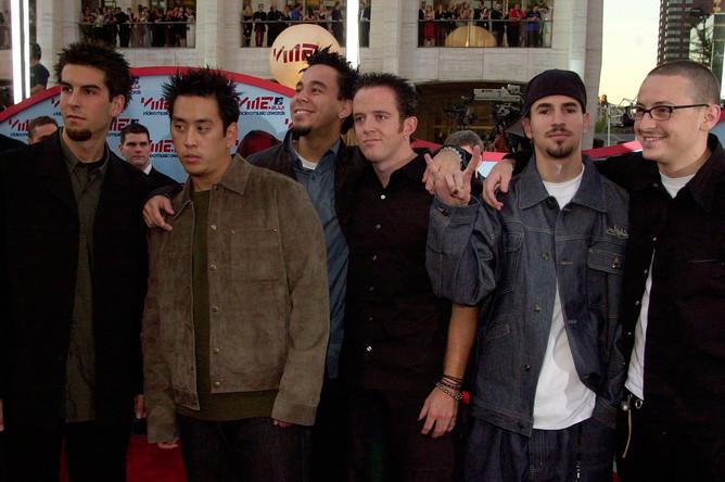 Группа Linkin Park на MTV Video Music Awards, 2001 год