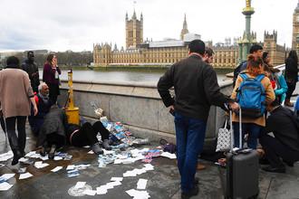 Ситуация на месте теракта в центре Лондона