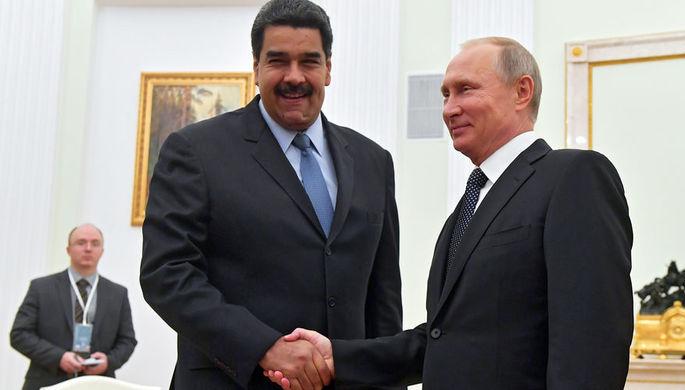 Президент России Владимир Путин и президент Боливарианской Республики Венесуэла Николас Мадуро во время встречи, 2017 год
