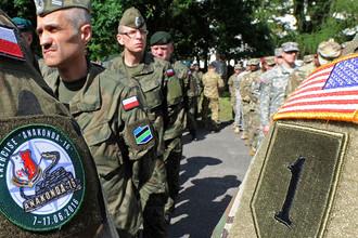 Военные учения солдат армии Польши и США в Варшаве, 2016 год