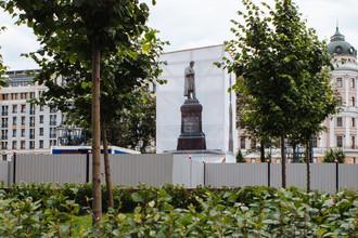 Реставрация памятника А.С. Пушкину, 25 июля 2017 года