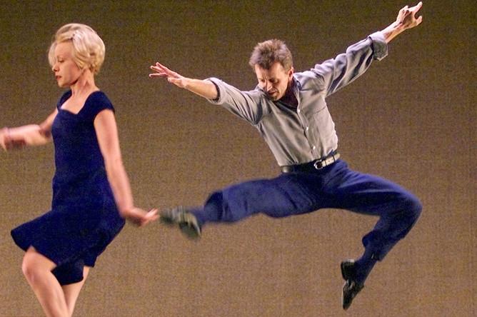 Артист балета Михаил Барышников во время выступления в Мадриде, 1999 год