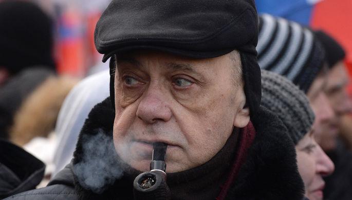 Режиссер-мультипликатор Гарри Бардин на «Марше памяти Бориса Немцова»