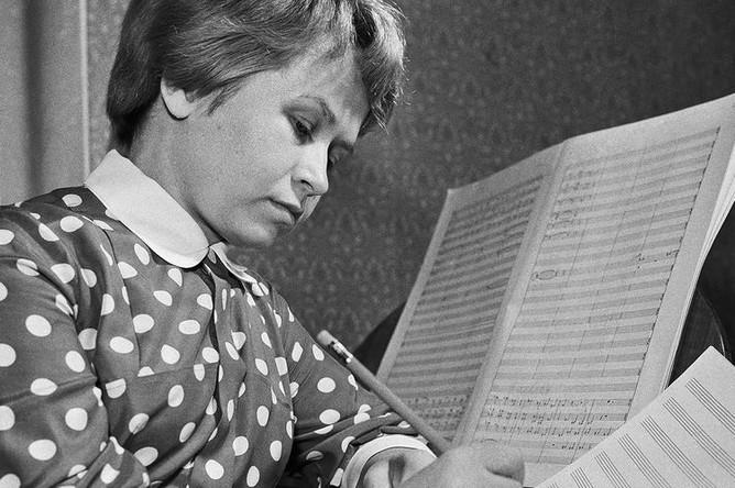 Композитор Александра Пахмутова, 1961 год