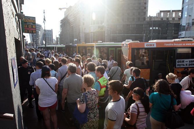 Ситуация возле станции метро «Киевская»