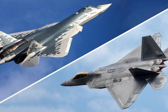 «Собачья свалка»: Су-57 сравнили с F-22 Raptor