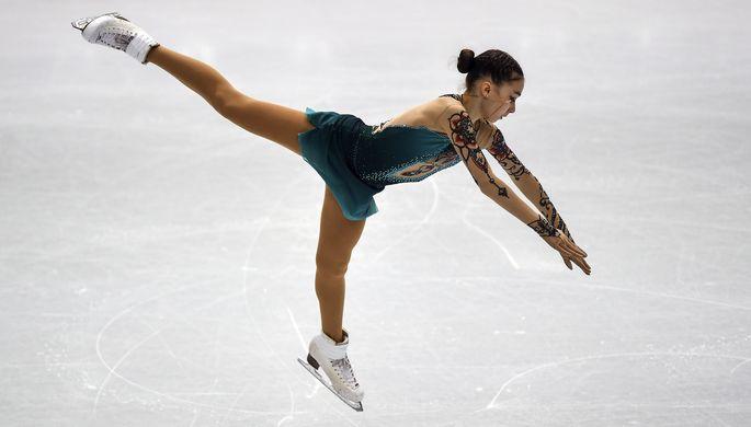 Россиянка Александра Трусова, занявшая третье место в соревнованиях женщин