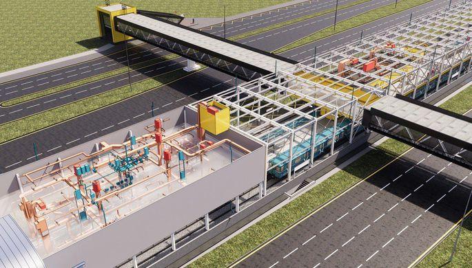 BIM-модель наземной станции метро «Филатов луг»