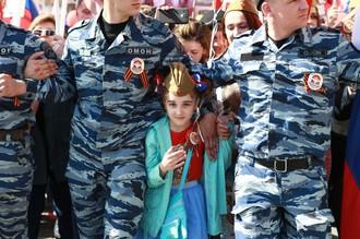 Шествие «Бессмертного полка» на День Победы в Москве, май 2016