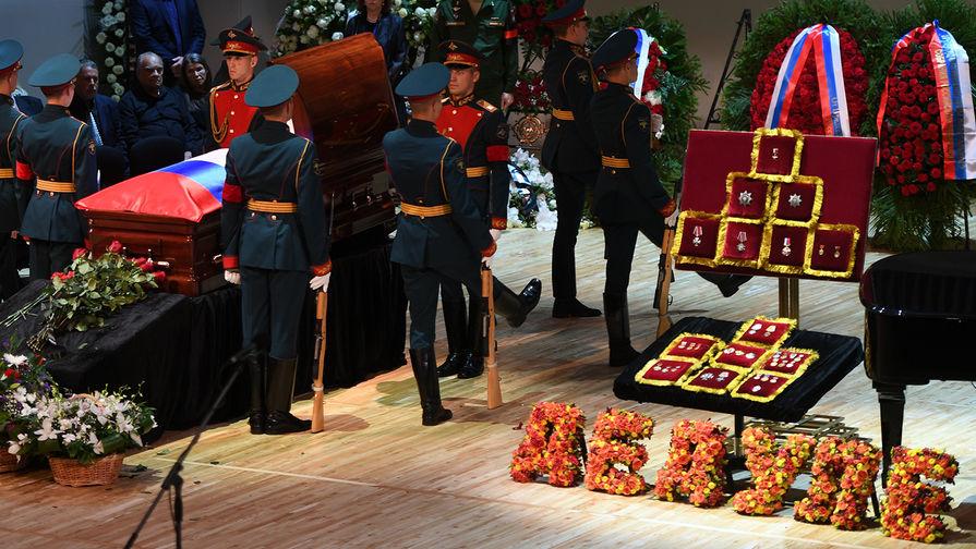 Церемония прощания с Иосифом Кобзоном в Москве, 2 сентября 2018 года