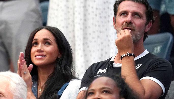 Меган Маркл и тренер Патрик Муратоглу на трибунах US Open
