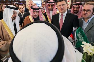 Министр энергетики России Александр Новак во время Российско-Саудовского инвестиционного форума, 5 октября 2017 года