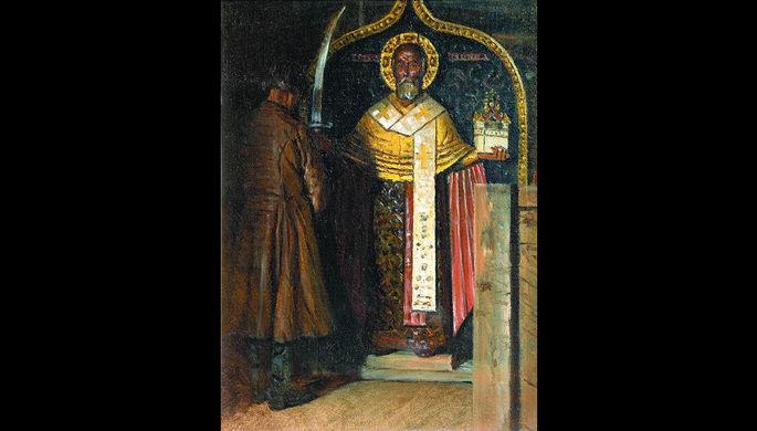 Василий Верещагин. Икона Святого Николы с верховьев реки Пинеги. 1896