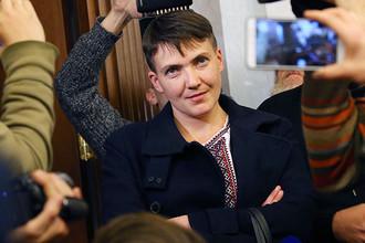 Депутат Верховной рады Украины Надежда Савченко на заседании российского Верховного суда, октябрь 2016 года