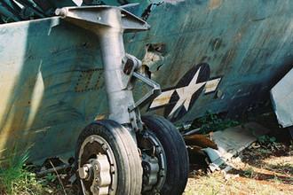 Обломки самолета U2 пилота Рудольфа Андерсона в Музее авиации в Гаване, 2002 год