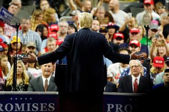 Президент США Дональд Трамп во время мероприятия в Чарльстоне, штат Западная Виргиния, 21 августа 2018 года