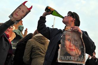 Британцы празднуют смерть Тэтчер с шампанским