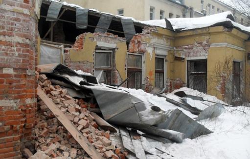 Снос усадьбы архитектора Соколова в Электрическом переулке