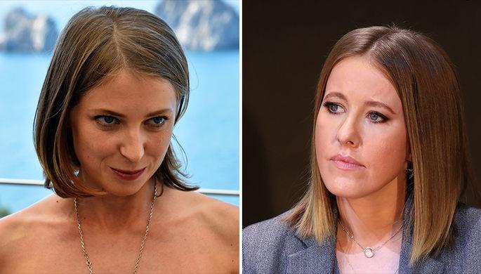 Наталья Поклонская и Ксения Собчак, коллаж