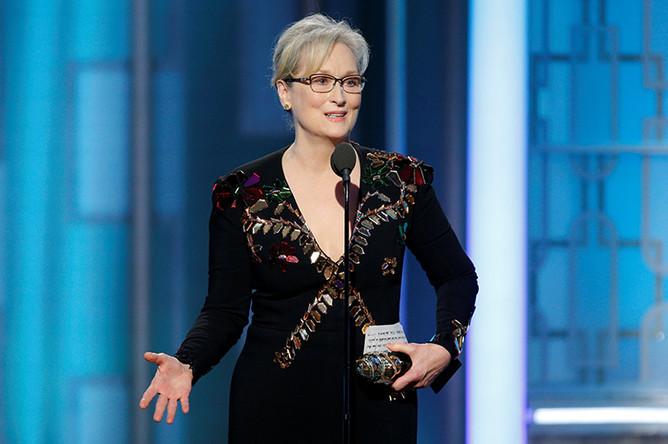 Мэрил Стрип наградили почетной премией имени Сесиля Б. Де Милля за жизненные достижения в области кинематографа