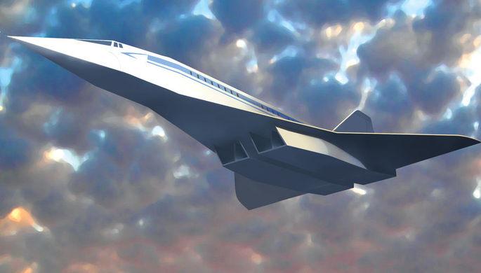 3D-модель сверхзвукового самолёта