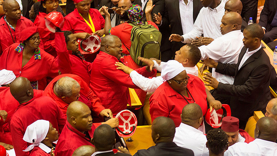 The fight in the South African parliament