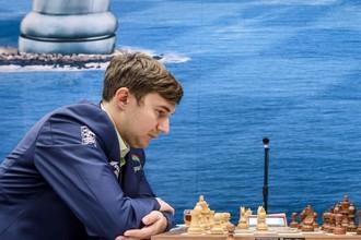 Сергей Карякин принимает участие в шахматном турнира в Вейк-Ан-Зее
