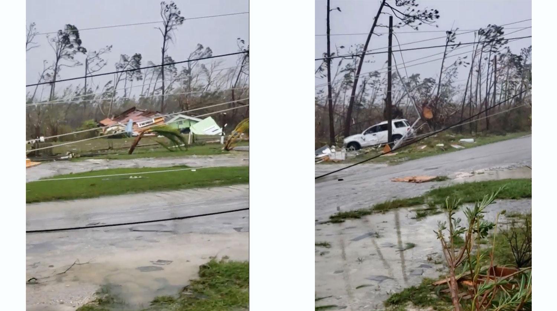 Первые последствия урагана «Дориан»